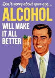 Felicitare - Alcohol will make it all better | Dean Morris