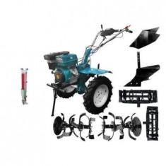Motocultor DKD HS 1100D, 13 CP+Roti Metal, Plug Arat, Rarita Fixa, Semanatoare