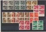 ROMANIA Ardealul de Nord 1945 emisiunea Oradea I 10 timbre locale in bloc 4 MNH, Istorie, Nestampilat