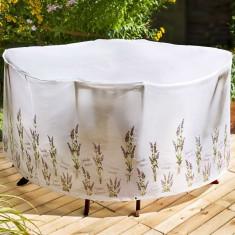 Husa de protectie pentru masa si scaune - Lavanda