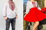 Cumpara ieftin Set Cuplu Traditional 126 Camasa Traditionala si Rochie cu motive traditionale