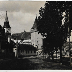 Fotografie biserica saseasca Mosna Sibiu poza veche