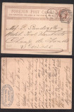 Great Britain 1875 Victorian Foreign Post card London cancel D.353
