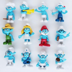 The Smurfs Figures Cake Toppers Set 12 pcs 6 cm CG.022