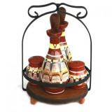 Oliviera completa ceramica, lut, 5 piese, 016391