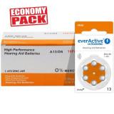 Baterii EverActive 13 Pentru Aparate Auditive Economy Pack 60 Baterii