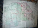 Harta mare a Judetului Suceava 1983 ,153x116cm  RSR Inst. Geodezie si Org. Terit