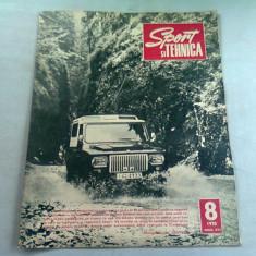 REVISTA SPORT SI TEHNICA NR.8/1970