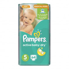 Scutece Pampers Active Baby-Dry 5 Junior, 64 buc, 11 - 18 kg