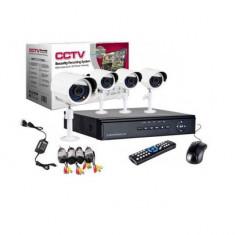 Kit supraveghere 4 camere interior si exterior, CCTV, Ahd, Full HD 1080p
