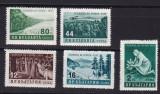 Bulgaria  1957   flora  ocrotirea  padurii   MI  1035-1039  MNH  w59