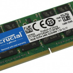 Memorie laptop Crucial 16GB DDR4 2400T CL17. DRx16 SODIMM. 260 pin