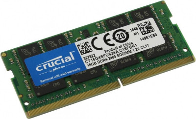 Memorie laptop Crucial 16GB DDR4 2400T CL17, DRx16 SODIMM, 260 pin foto