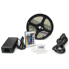 Kit complet banda RGB 300 SMD telecomanda 24 taste ManiaLight foto