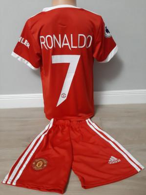 Echipament fotbal pentru copii Manchester United Ronaldo marimea 104-116 foto