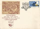 România, Expoziţia filatelică Centenar U.P.U. plic, Oradea, 1974