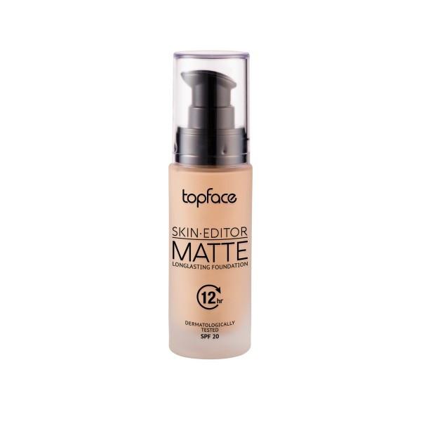 Fond de ten cu acoperire maxima, Topface Skin-Editor Matte, 32ml