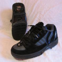 Adidasi / pantofi cu roti /role HEELYS original,marime 35 (22 cm), Negru
