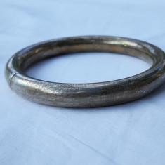 BRATARA argint CATUSA marcaje MINERVA 1900 FRANTA groasa LATA minunata MASIVA
