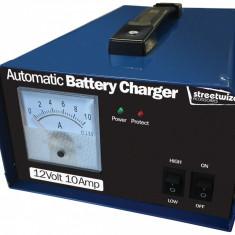 Incarcator acumulator auto automat marca Streetwize 12V 10Amp redresor cu ampermetru, cu protectie
