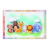 Cumpara ieftin Stickere decorative camera copii, 150 x 100 cm, animalute