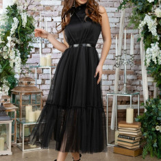Rochie lungă cu pânză
