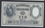 A5152 Sweden Suedia 10 kronor 1958 SEMNATURI DIFERITE aUNC