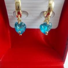 Cercei Luxury Aquamarine Heart Crystal