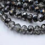 Accesorii Textile, Pentart, Strasuri Silver Argintiu 4 mm Crystal Rondel 140pc