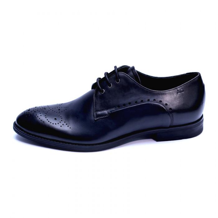 Pantofi eleganti pentru barbati din piele naturala, Soni, ANNA CORI, Negru, 39 EU