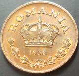 Moneda 1 LEU - ROMANIA, anul 1938   *cod 1950