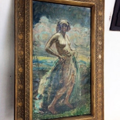 Tablou Nud impresionist Mark Lajos, Portrete, Ulei, Impresionism