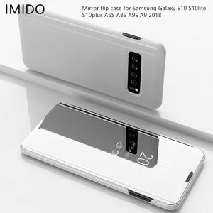 Husa Flip Stand Clear View pentru Samsung Galaxy S10 / S10 Plus / S10+
