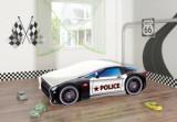 Set Pat Tineret 160x80 Race Car Black Police + Saltea