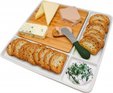 Platou pentru snacks-uri din portelan, FIH336