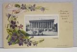 A.D XENOPOL CATRE DOAMNA ELIZA XENOPOL * , CARTE POSTALA , CROMOLITOGRAFIE , EMBOSATA , BURSA DIN PARIS , CIRCULATA , CLASICA , 1900