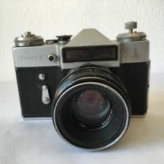 T- APARAT FOTO ZENIT-E, URSS, vintage, colectie, declansator functional