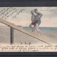 CONSTANTA    DE LA PLAJA BAILOR MAMAIA CIRC.1906  EDITURA  T.G.DABO  CONSTANTA, Circulata, Printata