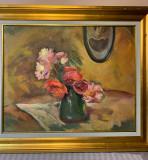 Lucretia Mihail Silion- Flori in vază, Ulei, Altul