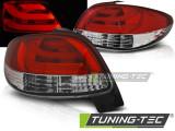Stopuri LED Peugeot 206 10.98- Rosu Alb LED BAR