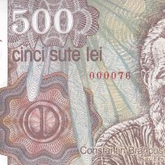 Bancnota Romania 500 Lei aprilie 1991 - P98b UNC ( numar mic 0000xx )