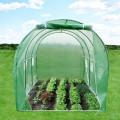 Solar tip tunel pentru gradina 4.5x3x2 m, ferestre, 2 intrari, sera 13.5 mp cadru otel