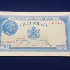 BANCNOTE ROMANIA - 5.000 LEI 2 MAI 1944 - SERIA 0016566 (starea care se vede)