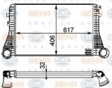 Radiator intercooler AUDI A3 (8P1) (2003 - 2012) HELLA 8ML 376 723-541