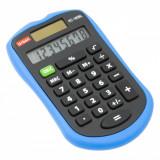Calculator de birou, model cu 8 cifre, albastru/negru, 6×9 cm