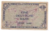 Germania 1 Deutsche Mark 1948 - U.S. Army Command, Cod 01, P-2