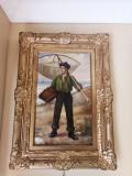 Tablou autentic Alexei Vasilievich Hanzen, Portrete, Ulei, Impresionism