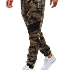 Pantaloni sportivi joggers pentru bărbat camuflaj-verzi Bolf TC873