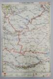 HARTA ZONEI BUZAU - RAMNICU SARAT , LITOGRAFIE de M.D. MOLDOVEANU , 1936