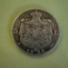 5 lei 1883 - 6 Stele, Argint